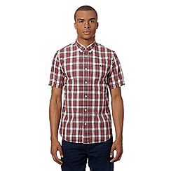 Fred Perry - Red tartan short sleeved shirt