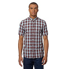 Fred Perry - Blue tartan short sleeved shirt