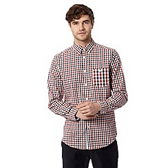 Ben Sherman - Red gingham check long sleeved shirt