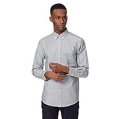 Ben Sherman - Big and tall light grey oxford plain shirt