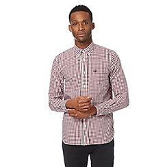 Fred Perry - Red gingham check shirt