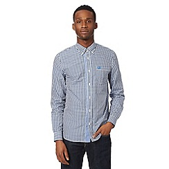 Fred Perry - Navy gingham check shirt
