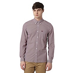 Fred Perry - Red mini gingham checked regular fit shirt