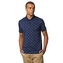 Ben Sherman - Navy scooter printed polo shirt