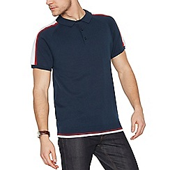 Fred Perry - Navy tape collar slim fit polo shirt