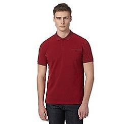 Ben Sherman - Red pique tonal collar polo shirt