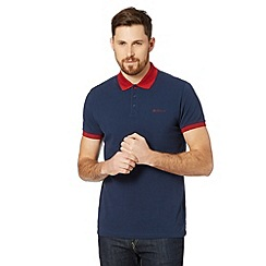 Ben Sherman - Navy contrast collar polo shirt