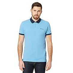 Ben Sherman - Big and tall blue contrast collar polo shirt