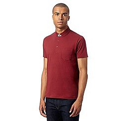 Ben Sherman - Wine floral trim polo shirt