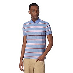 Ben Sherman - Light blue oxford pique striped polo shirt