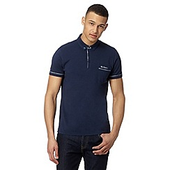 Ben Sherman - Big and tall navy gingham trim polo shirt