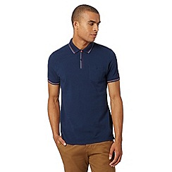 Ben Sherman - Big and tall navy stitch trim polo shirt