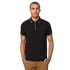 Ben Sherman - Black stitch trim polo shirt