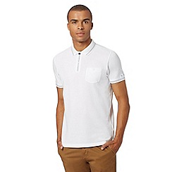 Ben Sherman - Big and tall white stitch trim polo shirt