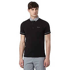 Ben Sherman - Big and tall black chambray collar polo shirt