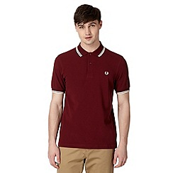Fred Perry - Wine regular fit polo shirt