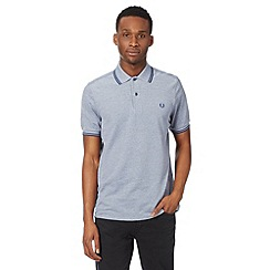 Fred Perry - Navy oxford regular fit polo shirt