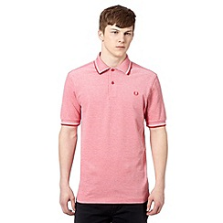Fred Perry - Red tipped collar regular fit oxford polo shirt