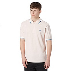 Fred Perry - Light pink embroidered logo regular fit polo shirt