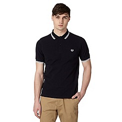 Fred Perry - Navy slim fit polo shirt