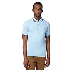 Fred Perry - Blue twin tipped slim fit polo shirt