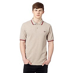 Fred Perry - Natural tipped collar slim fit pique polo shirt