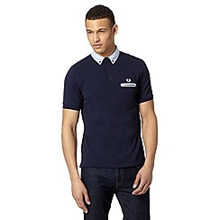 Fred Perry - Dark blue slim fit polo shirt