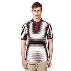 Fred Perry - Dark red striped polo shirt