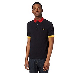Fred Perry - Navy colour pop slim fit polo shirt