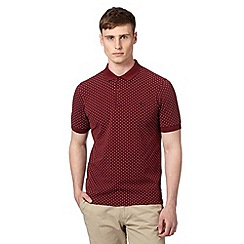 Fred Perry - Dark red polka dot polo shirt