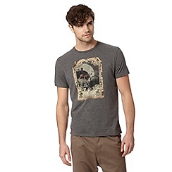 Ben Sherman - Grey scooter rider print t-shirt