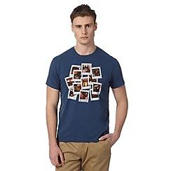 Ben Sherman - Dark blue snapshot print t-shirt