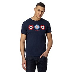 Ben Sherman - Big and tall navy target t-shirt