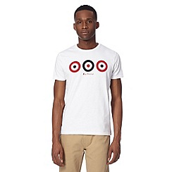 Ben Sherman - Big and tall white target t-shirt