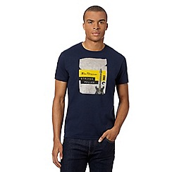 Ben Sherman - Big and tall navy 'strings pulled' guitar t-shirt