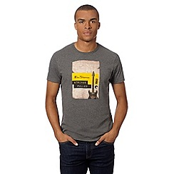 Ben Sherman - Big and tall dark grey 'strings pulled' guitar t-shirt