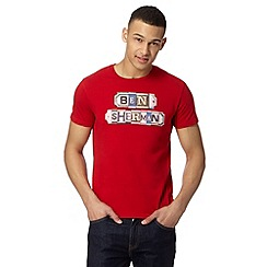 Ben Sherman - Red street sign t-shirt