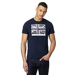 Ben Sherman - Navy 'Union Jack' scooter t-shirt