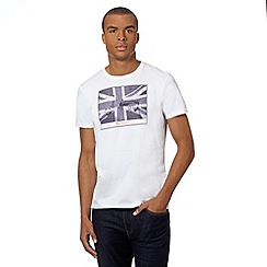 Ben Sherman - Big and tall big and tall white 'Union Jack' scooter t-shirt