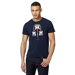 Ben Sherman - Big and tall navy guitars target t-shirt