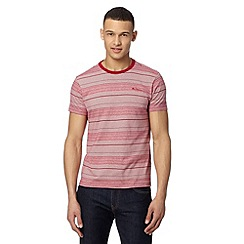Ben Sherman - Red fine stripe print t-shirt