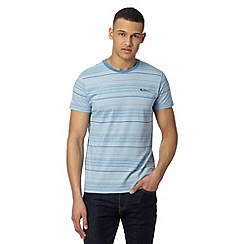 Ben Sherman - Big and tall blue fine stripe print t-shirt