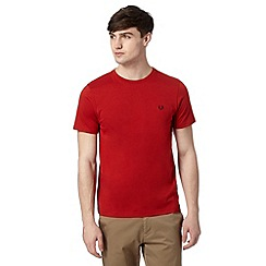Fred Perry - Red crew neck regular fit t-shirt