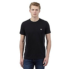 Fred Perry - Black embroidered logo t-shirt