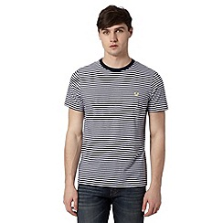 Fred Perry - Navy striped regular fit t-shirt