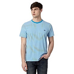 Fred Perry - Bright blue striped regular fit t-shirt