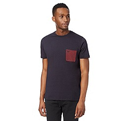 Fred Perry - Navy polka dot pocket t-shirt