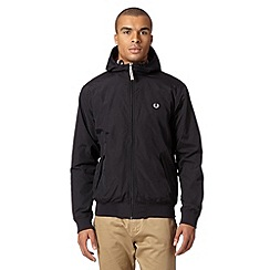 Fred Perry - Black hooded sailing jacket