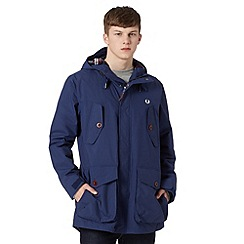Fred Perry - Navy checked lining parka jacket