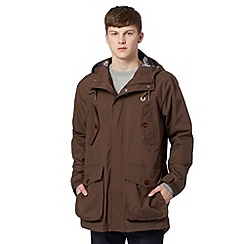 Fred Perry - Brown checked lining parka jacket
